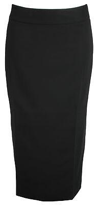 Qualifiziert Simon Jersey Plain Wool Mix Half Lined Skirt 31l Black