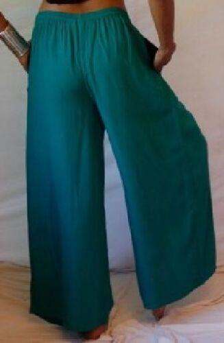 teal culotte pants L XL OS 1X 2X 3X 4X 5X 6X plus size wide leg drawstring