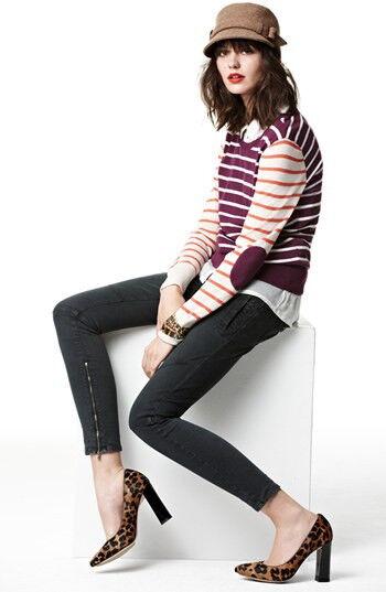 NWT Paige Denim 'Marley' Seam Detail Skinny Jeans in Azure