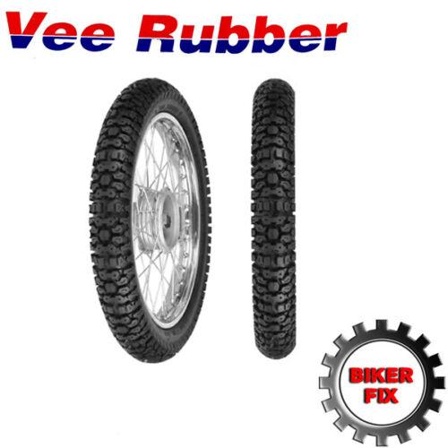 x2 Vee Rubber Rear Trail Tyre VRM 156E 4.10-18 3.50-18