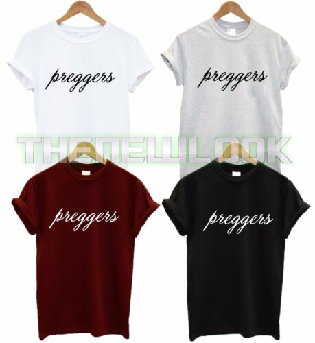 PREGGERS T SHIRT PREGNANT MATERNITY GIFT LOVE MARRIAGE WIFE WIFEY TOP TSHIRT NEW
