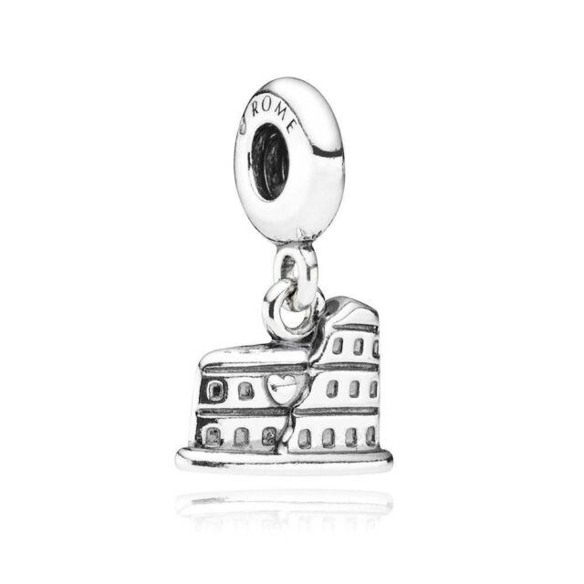 Genuine Pandora The Colosseum Rome Dangle Silver Charm 791079 Retired