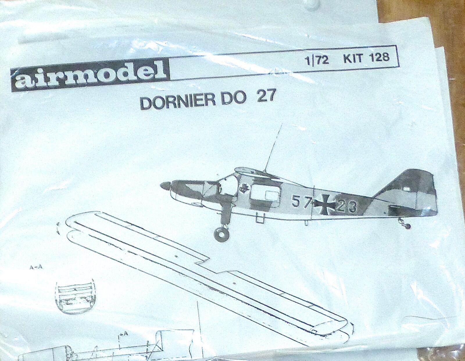 Dornier Do 27 Airmodell 1 72 Avion Kit 128 Kit de Montage Jamais-Assemblé Å
