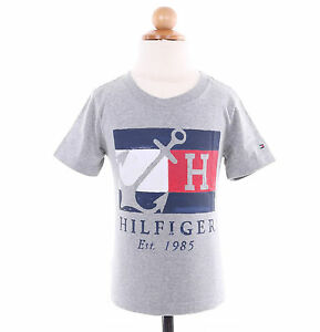 aefb081d5 Image is loading Tommy-Hilfiger-Children-Little-Boy-Toddler-Graphic-Tee-