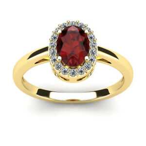 14K-YELLOW-GOLD-1-CARAT-OVAL-SHAPE-GARNET-AND-HALO-DIAMOND-RING