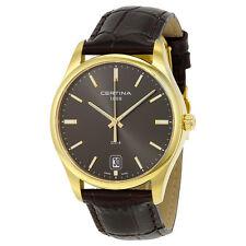 Certina DS-4 Quartz Grey Dial Black Leather Mens Watch C022.610.36.081.00