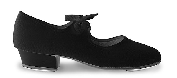 Black Starlite / DD Canvas Chorus low heel tap shoes - with heel and toe taps