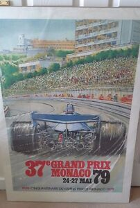 Monaco F1 poster 1979 sports 100 by 68cm cars formula 1 racing cars - <span itemprop='availableAtOrFrom'>Lincoln, United Kingdom</span> - Monaco F1 poster 1979 sports 100 by 68cm cars formula 1 racing cars - Lincoln, United Kingdom