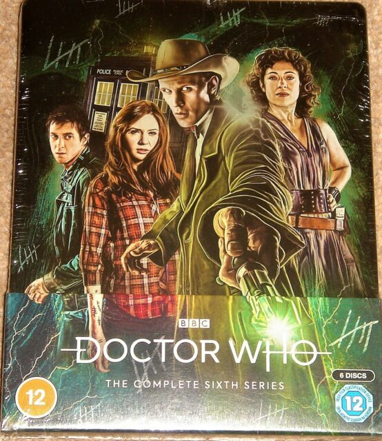 DOCTOR WHO STEELBOOK COMPLETE SERIES 6 / BLU RAY / WORLDWIDE SHIPPING