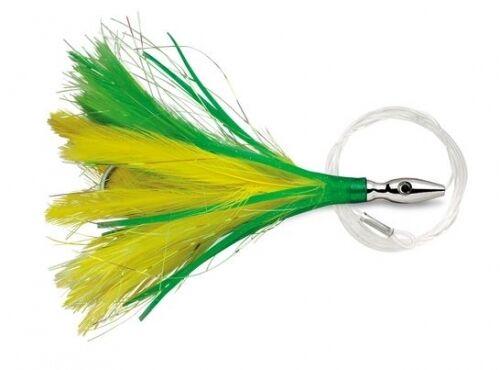 "Williamson Lures Flash Feather truquées 05 jaune vert 4/"" leurre FFR05-YG"