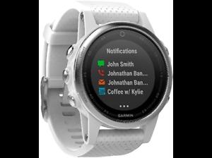 Reloj-deportivo-Garmin-Fenix-5S-Plata-Bluetooth-GPS-Frecuencia-cardiaca