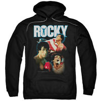 Rocky Balboa Pullover  I Did It  Licensed Black Cotton Hoodie In Sm - 2xl