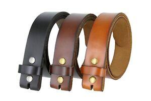 Genuine-Leather-Belt-Strap-Casual-Belt-Snap-1-1-2-034-Wide-Black-Brown-Tan