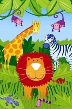 JUNGLE ANIMALS PARTY GAME POSTER ~ Birthday Supplies Decorations Safari Activity