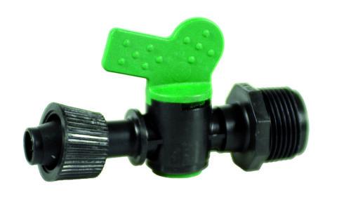 ala raccordo valvola con innesto maschio MM 16x3 rubinetto gocciolante goccia
