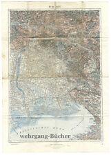 1. WK, K.u.K. Kriegskarte: 31° 46° Triest, 1:200.000, 63 x 45 cm von 1917