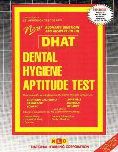 National Learning Corporation-Dental Hygiene Aptitude Test (Dhat) BOOK NEW