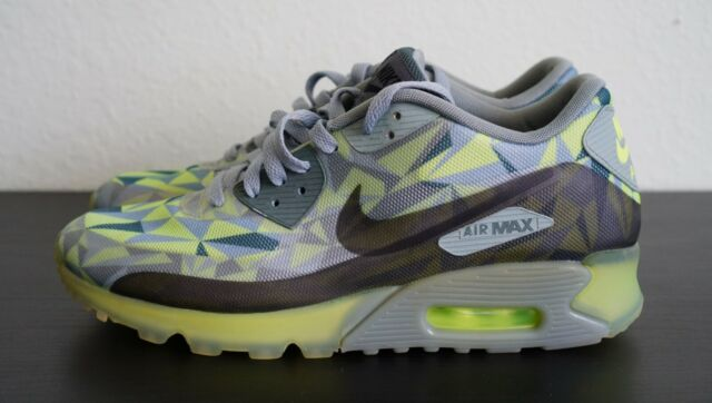new images of nice shoes 100% quality NIKE AIR MAX 90 ICE VOLT-MICA GREEN Size 9 [631748-700]