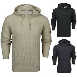New-Mens-Soul-Star-Retro-Cable-Knit-Hood-Jumper-Long-Line-Hoody-Sweater-Pullover