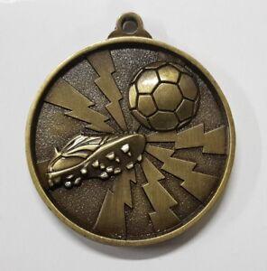 Soccer-Football-Two-Tone-3D-50mm-Diameter-Medal-Inc-Neck-Ribbon-Engraving