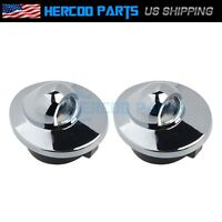 Pair Chrome Step Bumper License Plate Lamp Lens For 1990-2004 Ford Truck Pickup