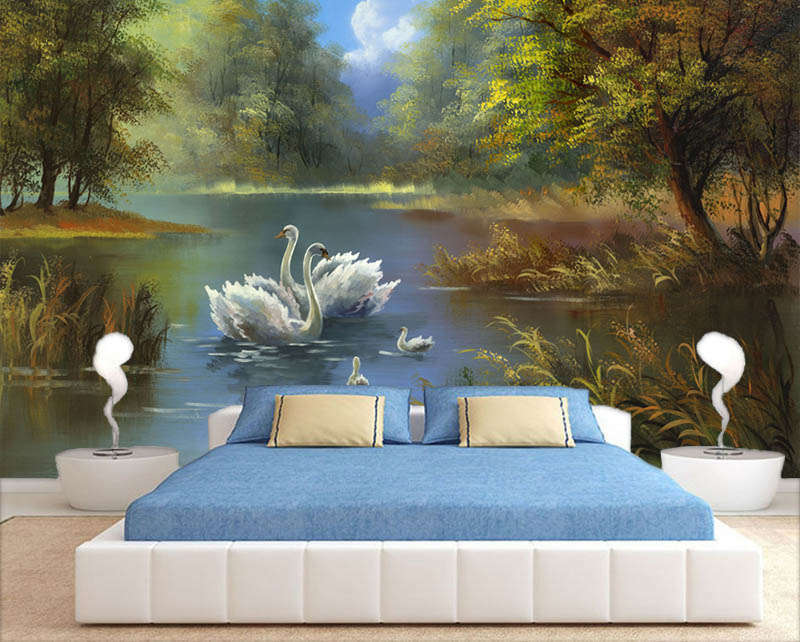 Plain Fairy Lake 3D Full Wall Mural Photo Wallpaper Printing Home Kids Decor