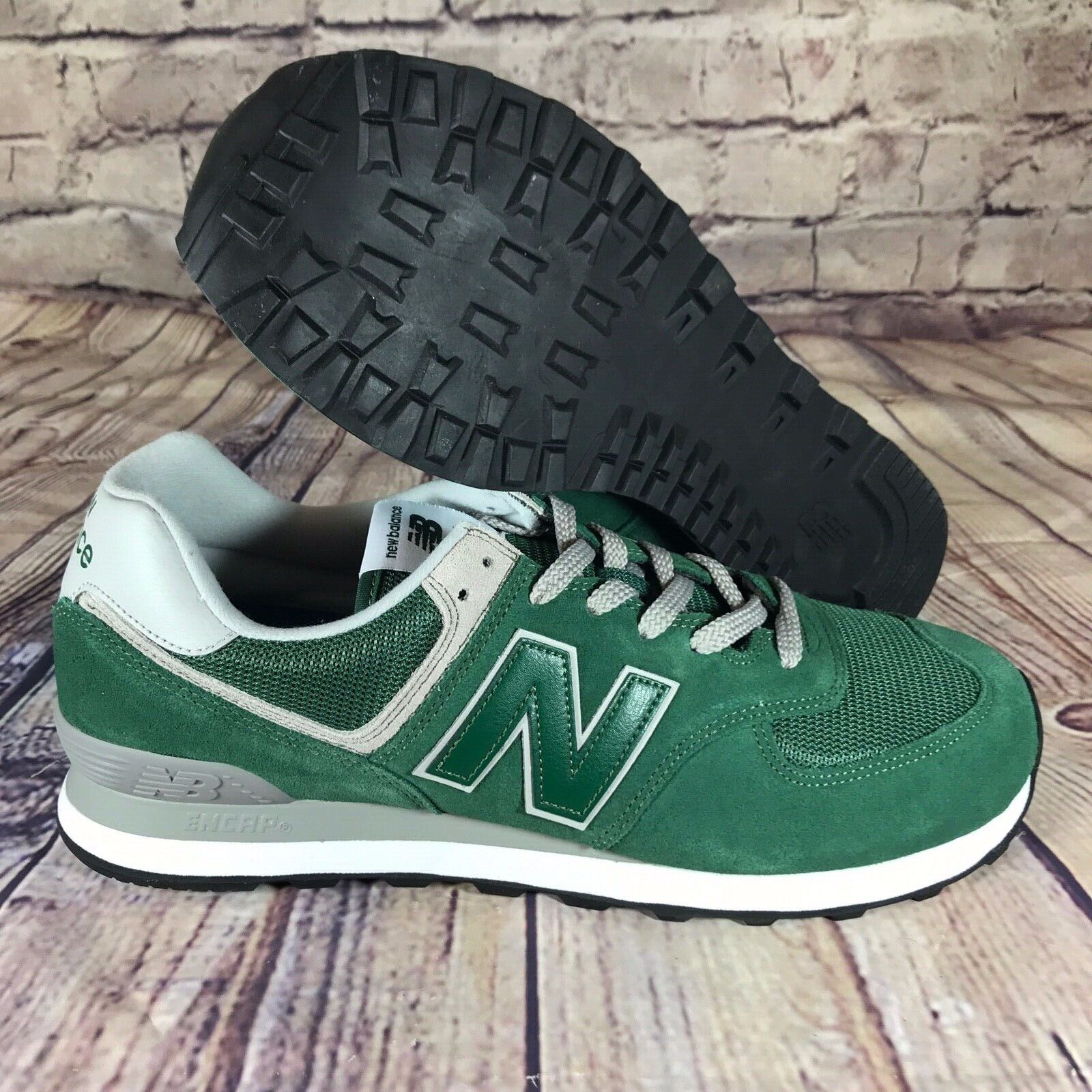 4200a928656cf New Balance Classics 574 Forest Green White Grey Black ML574EGR Men s