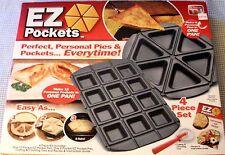 Popcandy EZ Pockets: Gray Non-Stick Steel 4-Piece Baking Kit - As Seen On TV