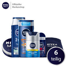 NIVEA MEN Vorteilsset 6tlg. Gesichtscreme Shampoo Spülung Duschgel Deo Handtuch