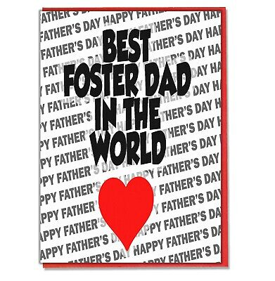FATHERS DAY CARD STEP DAD ON 3D INSERTED TRADITIONAL LIKE A DAD TO ME FOSTER DAD