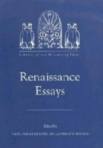 Renaissance Essays (Library of the History of Ideas) (Vol 1), , , Very Good, 199