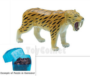 details about smilodon sabre tooth tiger ice age animal 4d 3d puzzle realistic model kit toy