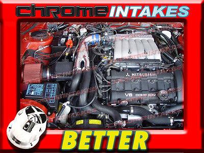K/&N+BLUE RED 91-99 3000GT//3000 GTO//DODGE STEALTH VR4 3.0L TURBO Y AIR INTAKE