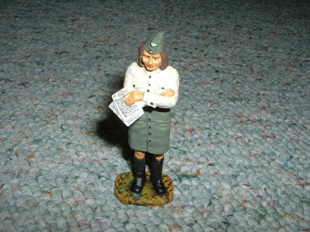 Elastolin Duscha Lineol 70mm WW2 German Woman WAC standing Pose 1