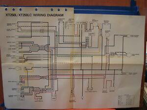 yamaha 250 wiring diagram nos yamaha factory wiring diagram 1984 xt250 l xt250 lc ebay yamaha raptor 250 wiring diagram wiring diagram 1984 xt250 l xt250 lc