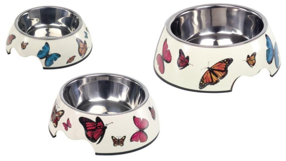 2 x Melaminnapf Schmetterling Hunde Katzen Futternapf und Wassernapf Freßnapf  | Louis, ausführlich