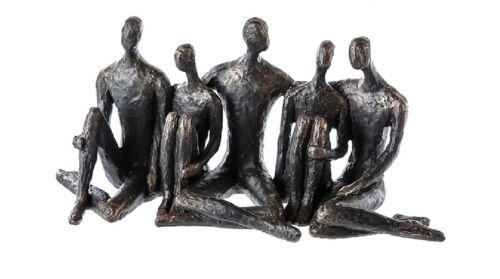 Casablanca Skulptur Gruppe Convention Bronzeoptik Poly Dekofigur Freunde 53244