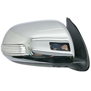 """Right Chrome Electric Door Side Mirror w/ LED For 7 Pins Hilux 2011-2014"""""""