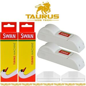 2 x SWAN Empty Cigarette TUBE Tobacco Filling Machine Rolling RIZLA Smoking UK