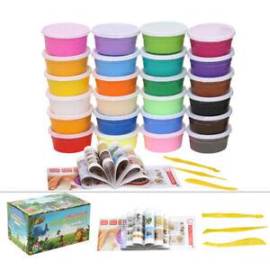 24 pcs Plasticine Clay Colorful Soft Polymer DIY Educational Craft Art Toys Kids