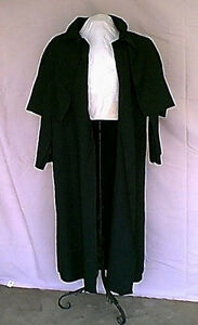 Gothic-Victorian-Steampunk-Black-Duster-Costume-Coat-NOS-2001