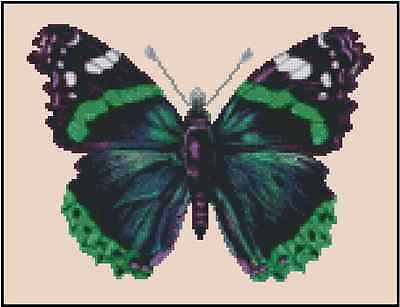 Butterfly Pink and Purple Counted Cross Stitch Chart No.29-102