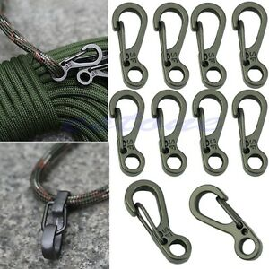 10X EDC Outdoor Survival Mini Rotatable Hang Buckle Quickdraw Key Chain Toosh