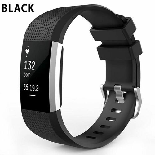 Replacement Silicone Rubber Band Strap Wristband Bracelet For Fitbit Charger 2