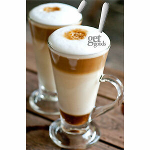 Costa-Style-Tall-Clear-Latte-Glasses-amp-Spoons-Irish-Coffee-Cappuccino-Mugs-Cups