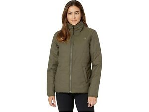 NWT! THE NORTH FACE QUILTED MERRIEWOOD REVERSIBLE NEW TAUPE GREEN JACKET COAT S