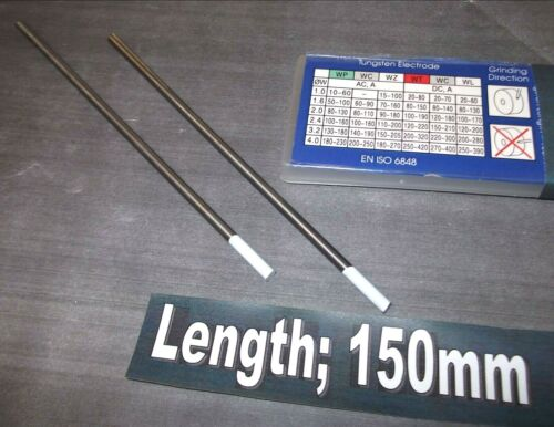 White Pack of 2 *TopQuality Tungsten welding rod 0.8/% Zirconiated TIG 1.2mm