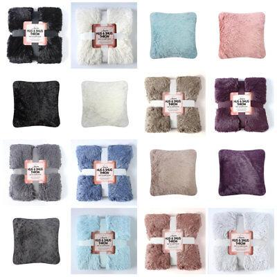 Gaveno Cavailia Luxury HUG /& SNUG Fluffy Fur Throw Blanket Sofa Bed Throw