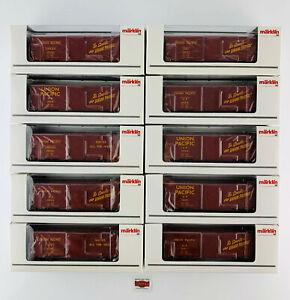 MARKLIN-H0-45646-10-BOX-CARS-034-UNION-PACIFIC-034-COMO-NUEVO-TOP