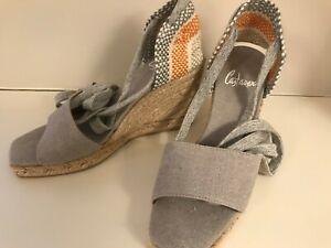 ac0f894ffdf Details about NEW Castaner Women's Canvas Platform Wedge Espadrille Shoes  Sandals EU35